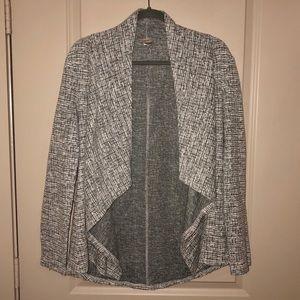 EUC LOFT Light Grey Wrap Cardigan- Size Medium